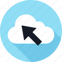 click, cloud, online, weather, web icon