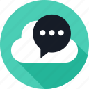 chat, cloud, conversation, sms, talk, weather
