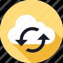 arrow, arrows, cloud, refresh, weather