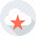 cloud, locate, location, save, star, weather icon
