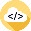 client, cloud, development, server, weather, web icon