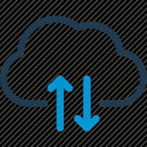 cloud, data, host, send, server, sync, synchronization icon