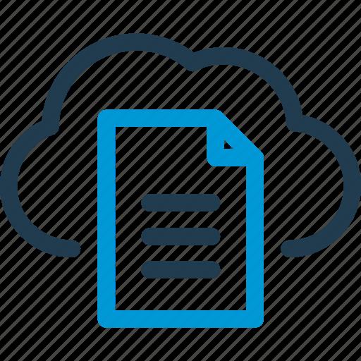 cloud, data, doc, file, host, server, sync icon