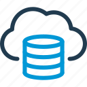 base, cloud, data, host, server, storage, sync icon