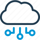 cloud, connect, data, host, server, sync icon