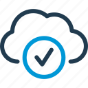 access, check, cloud, data, host, server, sync icon