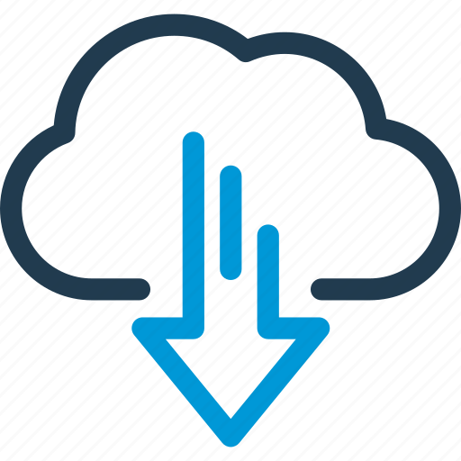 cloud, data, download, host, server, sync icon