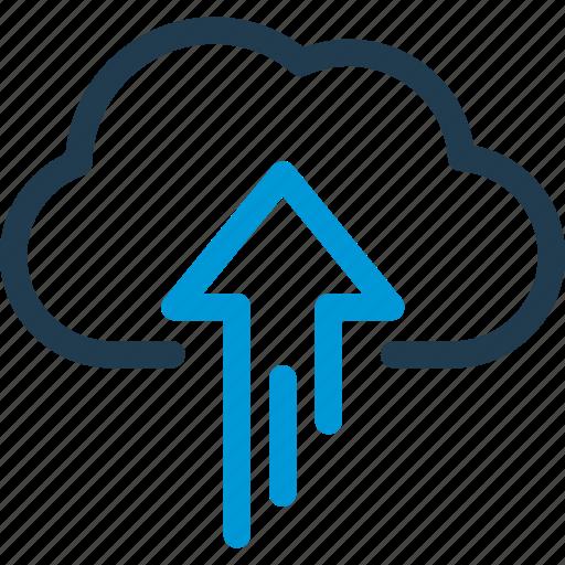 cloud, data, host, server, sync, upload icon
