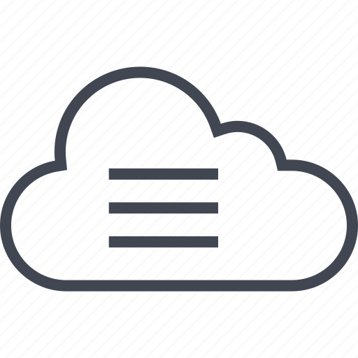 cloud, data, menu, server icon