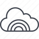 cloud, data, rainbow, server, shine icon