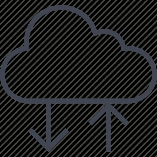 arrow, cloud, data, down, server, up icon