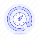 network, reload, cloud, connectivity, connection, dashboard, meter, speed icon