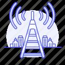 antenna, cloud, connectivity, network, signal, telecommunication