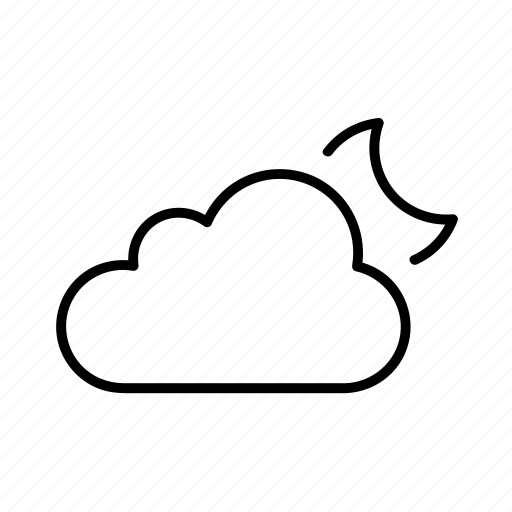 cloud, forecast, partial moon, partly cloudy, weather icon