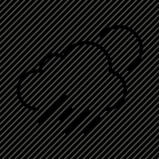 cloud, forecast, rain, rainy, sun, sunny, weather icon