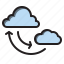 cloud, computer, data, interface, sync icon