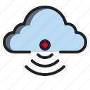 clouds, signal, wireless, with