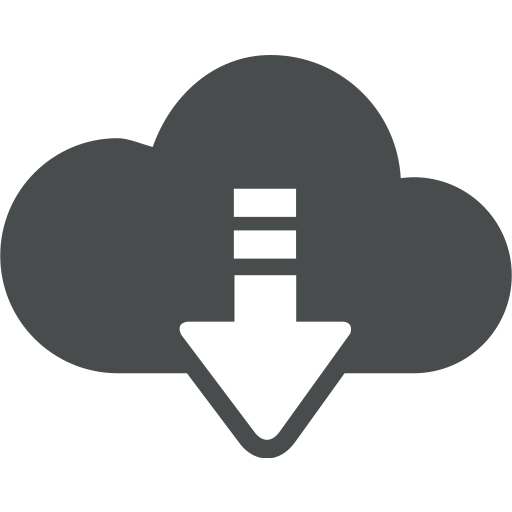 arrow, cloud, cloud computing, down, download icon