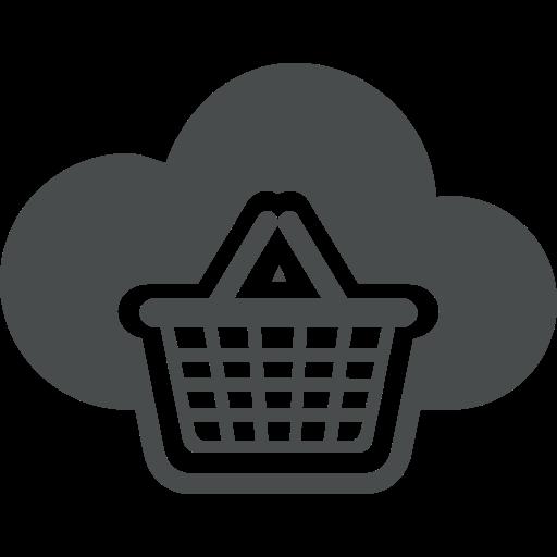 bag, basket, cart, cloud, e-commerce, shopping, store icon