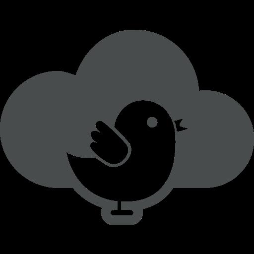 bird, cloud, cloud computing, internet, technology, twitter icon