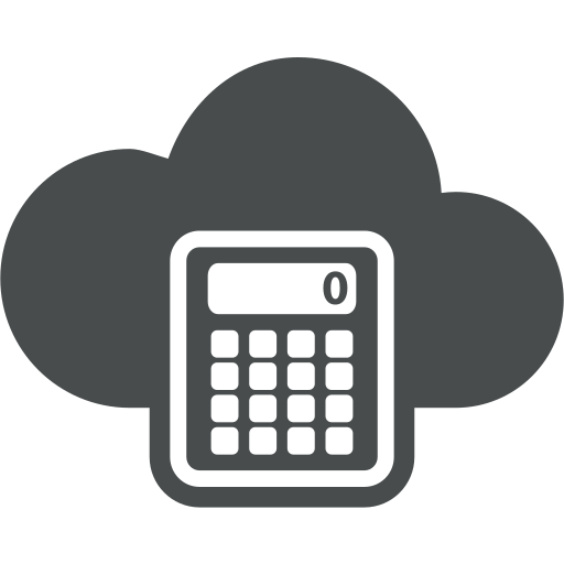 accountant, accounting, calculate, calculation, calculator, cloud, cloud computing icon