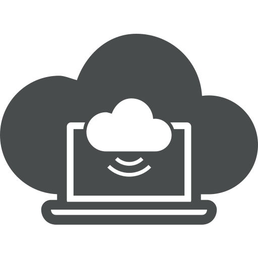 cloud, cloud computing, communicate, connect, connecting, laptop, network icon