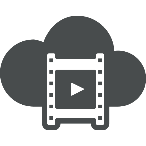 clip, cloud, dia, movie, multimedia, play, video icon