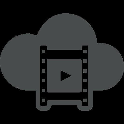 clip, cloud, dia, movie, multimedia, play, video icon