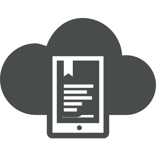 cloud, communication, display, e-reader, education, ereader, ipad icon