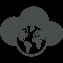 cloud, communication, earth, global, globe, globe map, planet icon