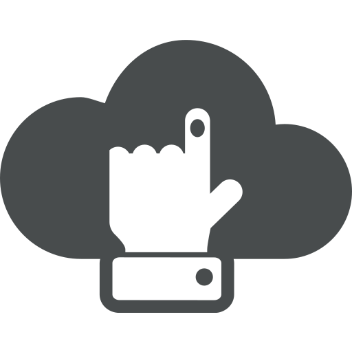 click, cloud, finger, gesture, hand, pointer, select icon
