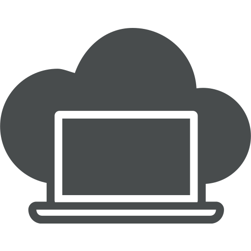 cloud, cloud computing, computer, device, laptop, macbook, notebook icon