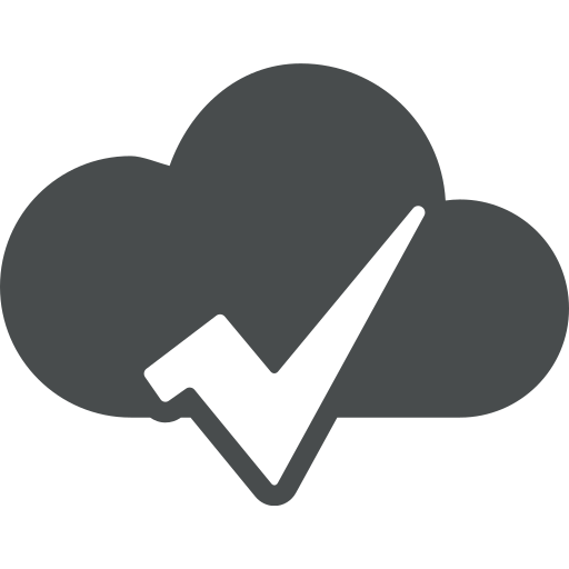accept, check, check mark, cloud, done, marked, ok icon