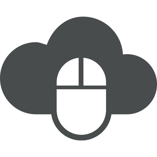 click, cloud, cloud computing, computer, device, electronics, mouse icon