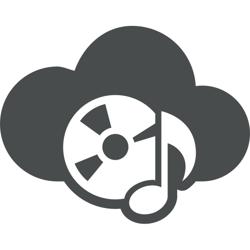 cd rom, cloud, cloud computing, entertainment, mp3, music, music note icon