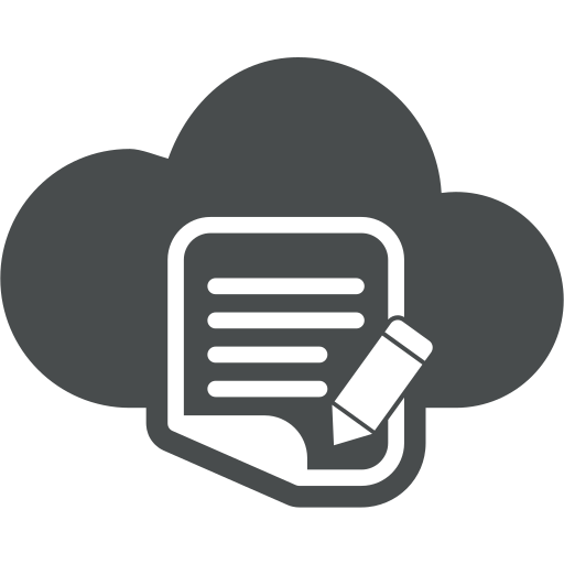blog, cloud, compose, copywriting, document, pencil, write icon