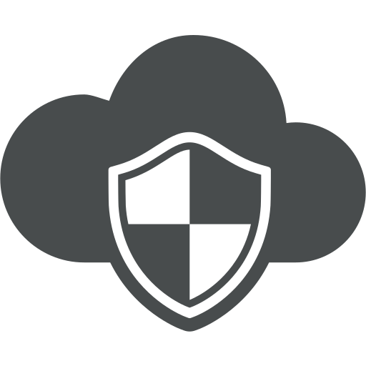 brand, cloud, cloud computing, defence, protection, safety, shield icon
