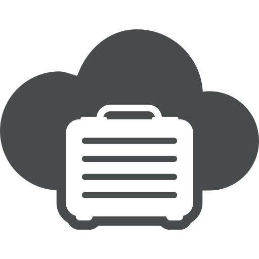 business, cloud, cloud computing, office, suitecase icon