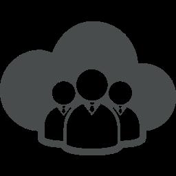 cloud, cloud computing, users icon