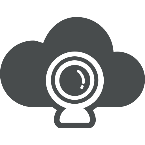 cam, cloud, cloud computing, communication, multimedia, web icon