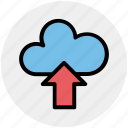 cloud and upload sign, cloud computing, cloud network, cloud upload, cloud uploading