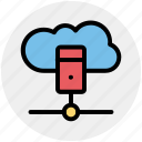 cloud, cloud computing, cloud data, database, server, servers, storage icon