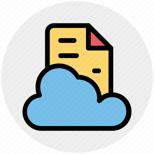Cloud, cloud page, computing, document, page, paper, storage icon - Download on Iconfinder