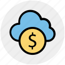 cloud and dollar, cloud currency concept, cloud dollar sign, dollar with cloud, earning concept