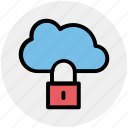 cloud network safety, cloud networking safety, cloud security, internet security, internet security padlock, locked internet, safe internet icon