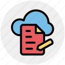cloud, cloud page, computing, document, page, paper, storage