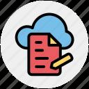 cloud, cloud page, computing, document, page, paper, storage