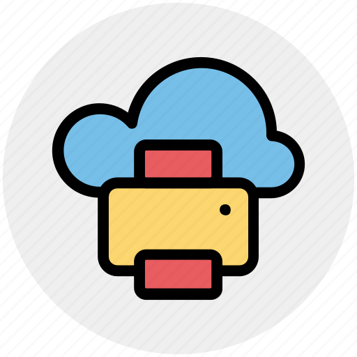 Cloud and fax, cloud and printer, cloud computing, cloud computing communications, cloud computing documentation, cloud computing fax, printing from cloud icon - Download on Iconfinder