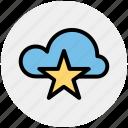 bookmark, cloud, cloud star, computing, favorite, star, storage