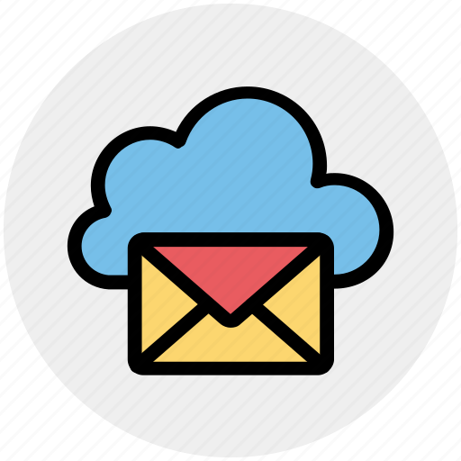 Cloud computing mail, cloud internet mailing, cloud letter, cloud with envelope, cloud with mail, internet mail, mail cloud icon - Download on Iconfinder